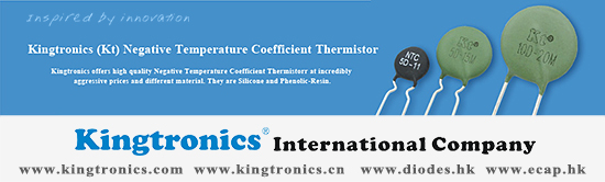 Kingtronics NTC Thermistor helps you solve your inrush current or temperature sensing challenges