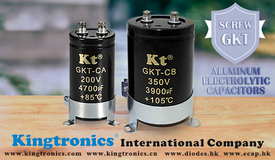Kingtronics Screw type Aluminum Electrolytic Capacitors-GKT-CA& CB