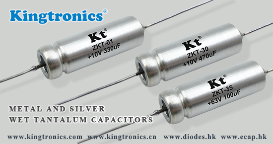 Kt Kingtronics Silver and Metal Axial Wet Tantalum Capacitors—Tantalum Series – ZKT