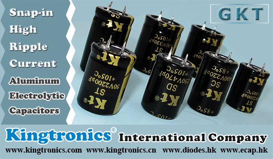 Kt Kingtronics Aluminum Electrolytic Capacitors Snap-in type