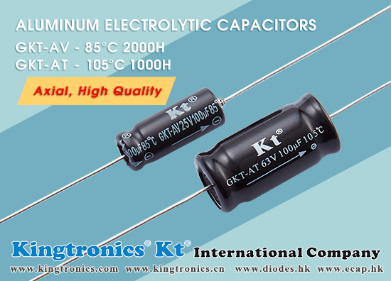 Kingtonics The Best Support of Axial Aluminum Electrolytic Capacitors