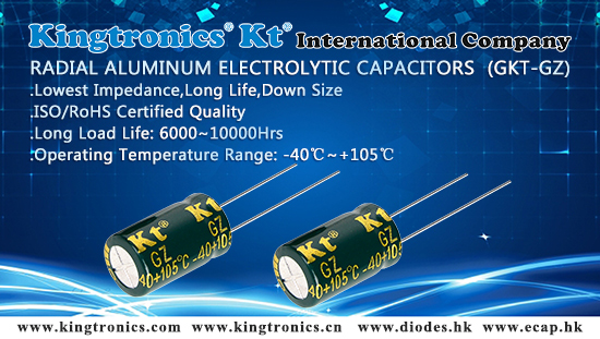 Kingtronics Best Choice of Long Life Radial Aluminum Electrolytic Capacitors
