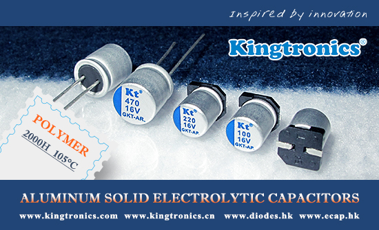 Kingtronics Best Choice of Low ESR Polymer Aluminum Solid Electrolytic Capacitors