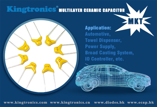 Kingtronics Radial Type Multilayer Ceramic Capacitor with competitive price and lead time support