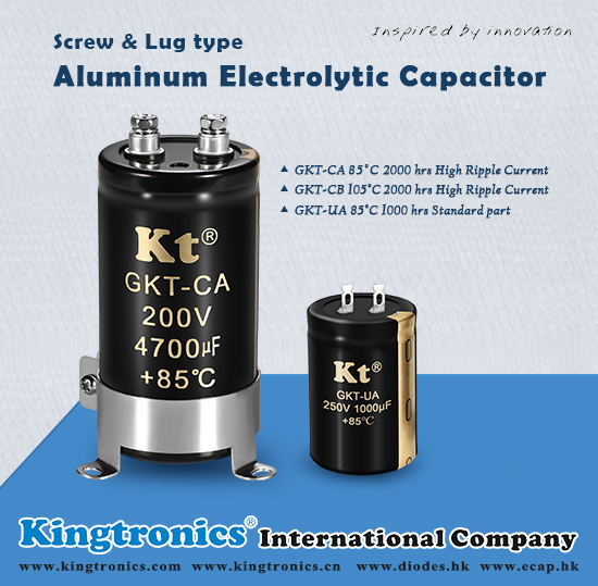 Kingtronics Screw & Lug type Aluminum Electrolytic Capacitors