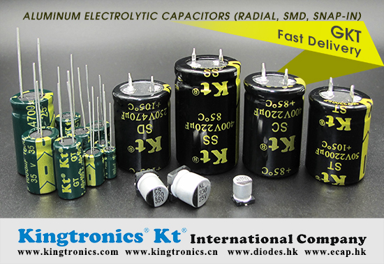 Kt Kingtronics Cross reference for Snap-in Type Aluminum Electrolytic Capacitor