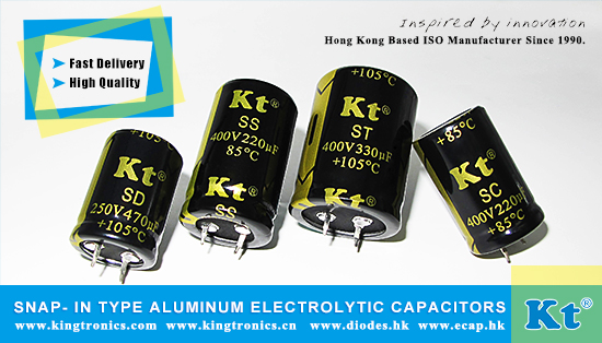 Kingtronics Your Best Choice of Snap- in Type Aluminum Electrolytic Capacitors